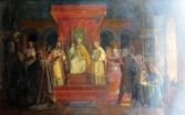 Die Gruendung des Templerordens (Marius Granet, Versailles)