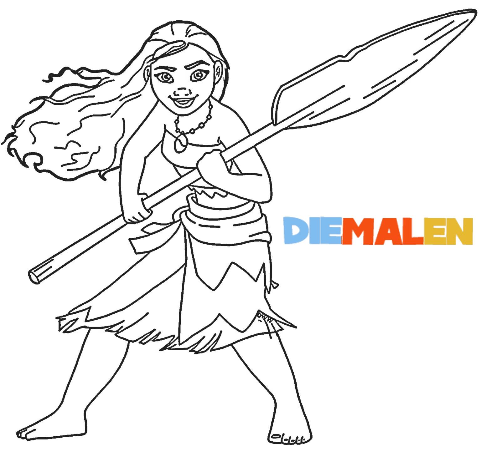 Vaiana Ausmalbilder - Disney Malvorlagen für Mädchen