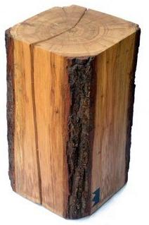 Mittwochsfundstück: Baumstammhocker, Die Auch Als Beistelltische Gute Figur  Machen