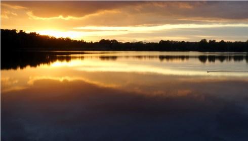 Foto vom Sonnenuntergang am Olbasee.