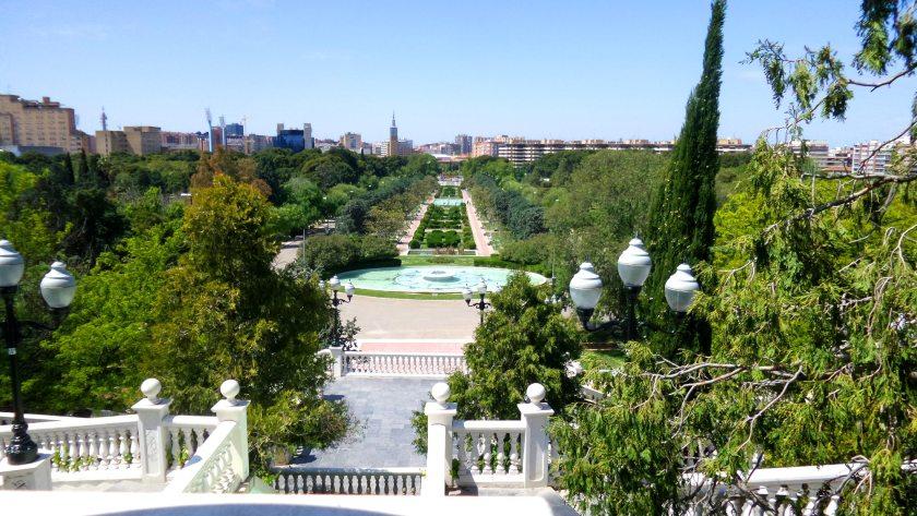 Foto von oben über den Park
