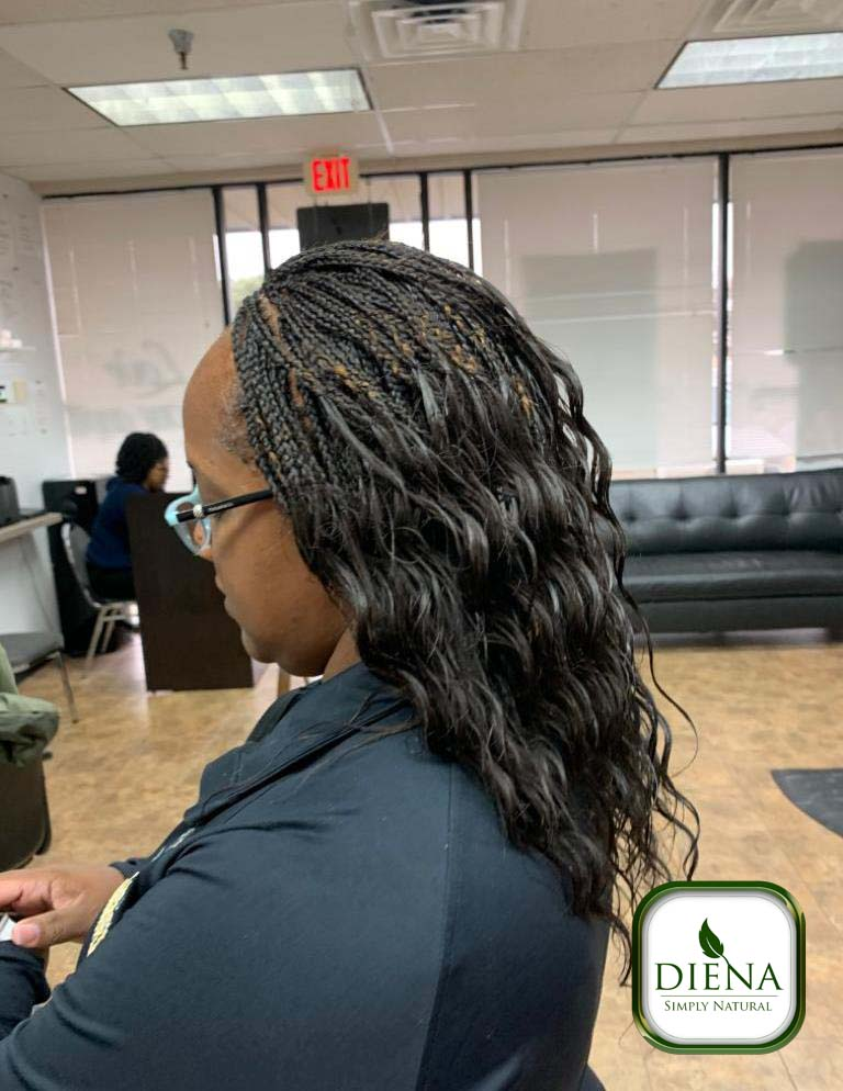 Micro Braids with Milky Way Ripple Deep Human Hair - DSN Braiding - Diena Simply Natural