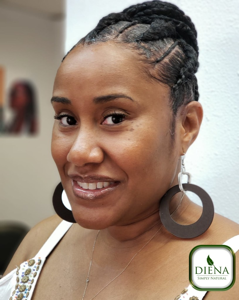 Feed In Cornrows - DSN Braiding - Diena Simply Natural