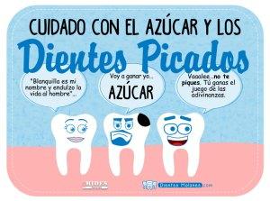 Cuidado con el azúcar y los dientes picados