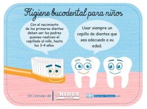 Consejo de higiene bucodental para niños