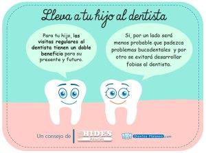 Lleva a tu hijo al dentista