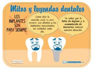 Mito y leyenda dental: Los implantes son para siempre