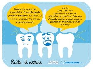 El estrés es malo para los dientes
