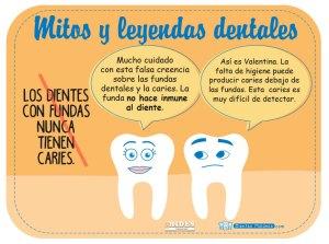 Mito y leyenda dental: Los dientes con fundas nunca tienen caries.