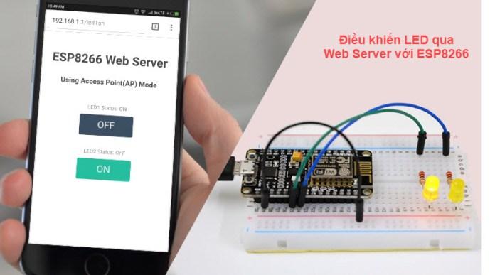 Điều khiển LED qua Web Server với ESP8266