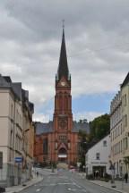 Rote Kirche in Aue.