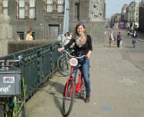 Biking through Amsterdam!