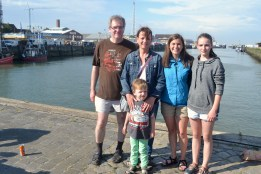 My family and I at the end of a long and wonderful day:)