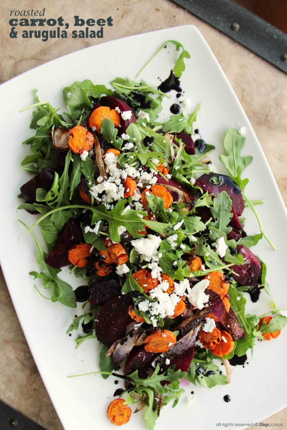 carrot beet and arugula