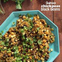 QUINOA, CHICKPEAS & BLACK BEANS