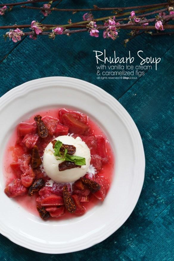 rhubarb soup -ice cream