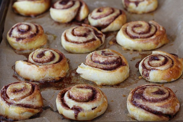 Cinnamon buns from the oven