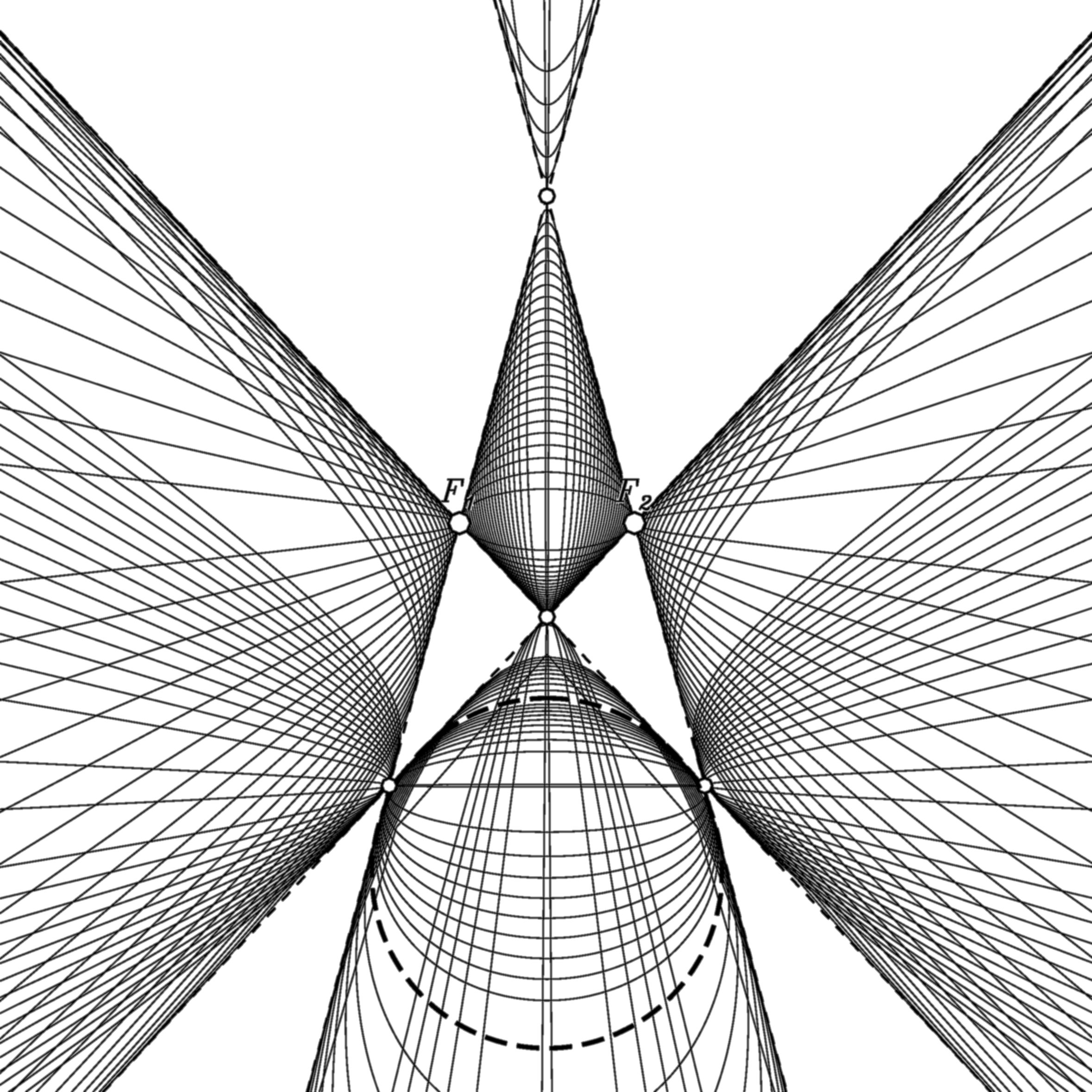 Confocal conics in projective geometry
