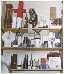 Bürowand von Helmuth Gsöllpointner in der Kunsthochschule Linz, um 1990. Foto Unbekannt