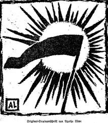 Eine Linolschnittarbeit von Agathe Löwe. Foto aus der Zeitschrift Revolution!, Nr. 5, 1919