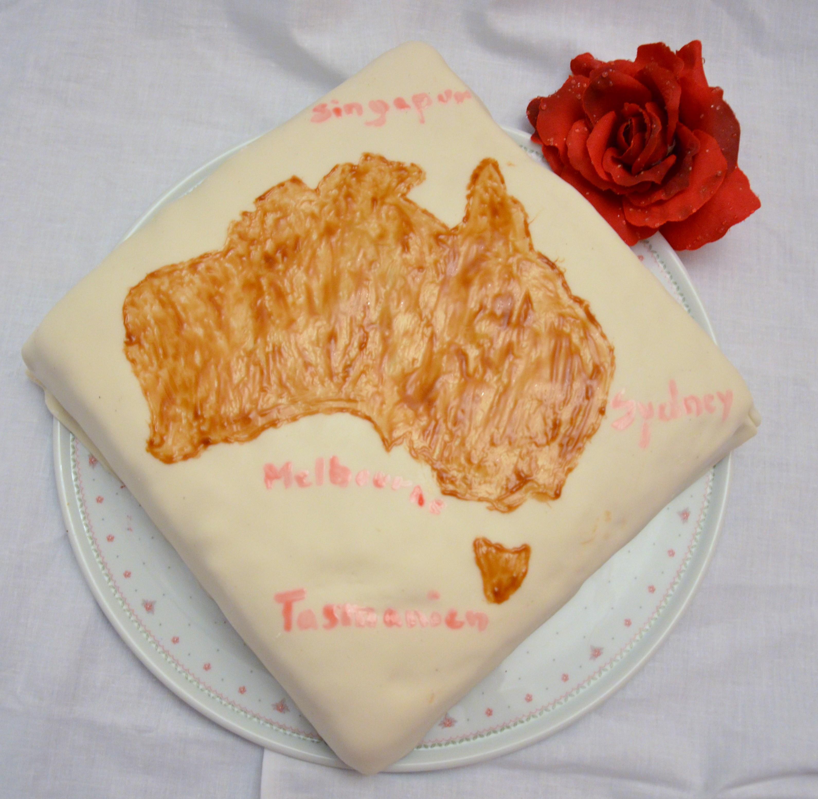 Torte mit Reiseziel