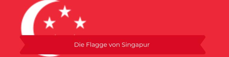 Die Flagge von Singapur