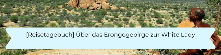 Reisetagebuch 7 Über das Erongogebirge zur White Lady