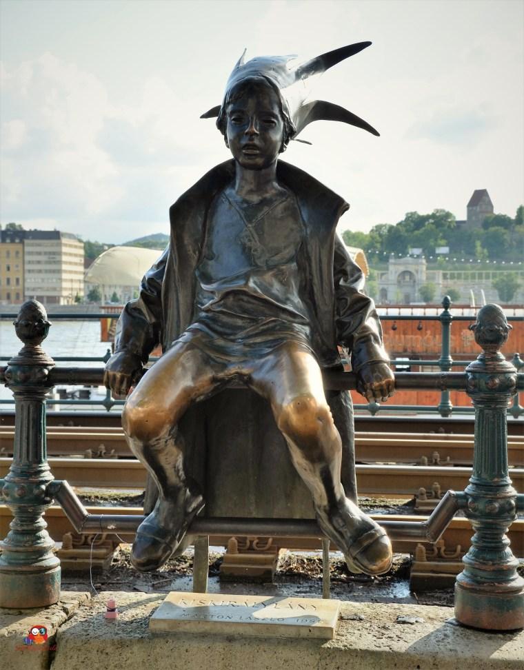 Der kleine Prinz am Donauufer in Budapest