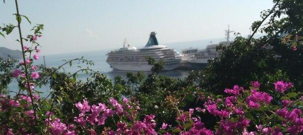 Die Artania liegt im Hafen der Blumeninsel Madeira.