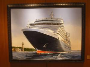 Ölgemälde der MS Queen Elizabeth