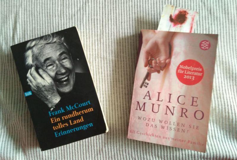 """Zwei Taschenbücher für eine Transatlantikreise:Frank McCourt """"Ein rundherum tolles Land"""" und Alice Munro """"Wozu wollen Sie das wissen?"""""""