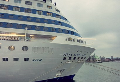 Silja Serenade in Helsinki im November