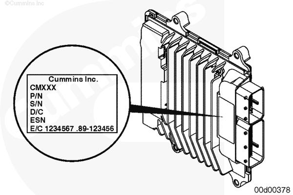 (ru119-100-001) Идентификация двигателя