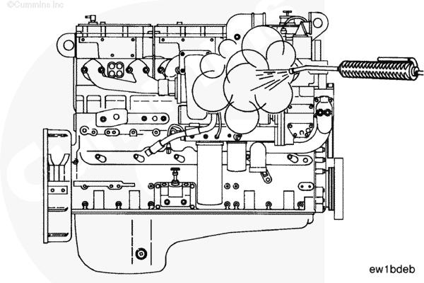 (ru99-000-009) Очистка двигателя паром