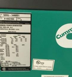 125 kw cummins onan generator  [ 1280 x 960 Pixel ]