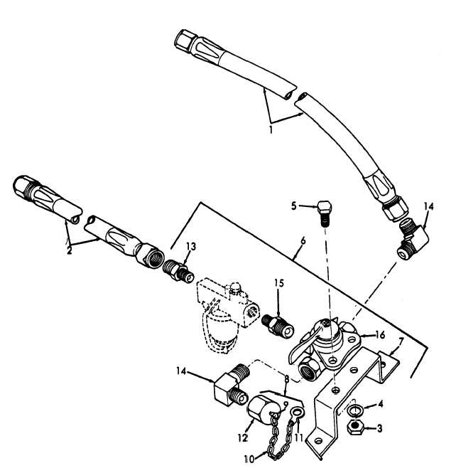 Figure 9. Fuel valve, hose and fittings, (MEP-023A).