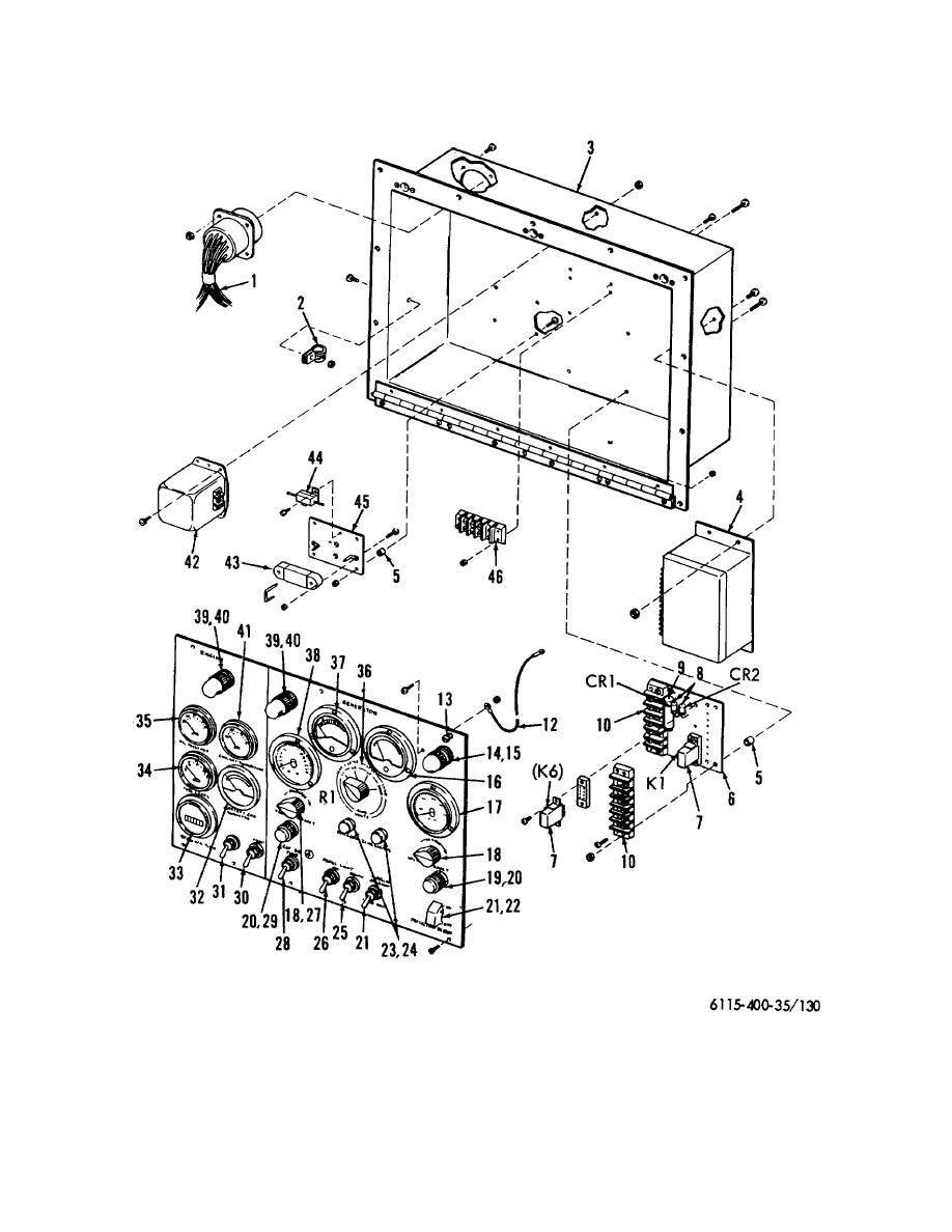 Figure 130. Control pane! and cubicle contents.