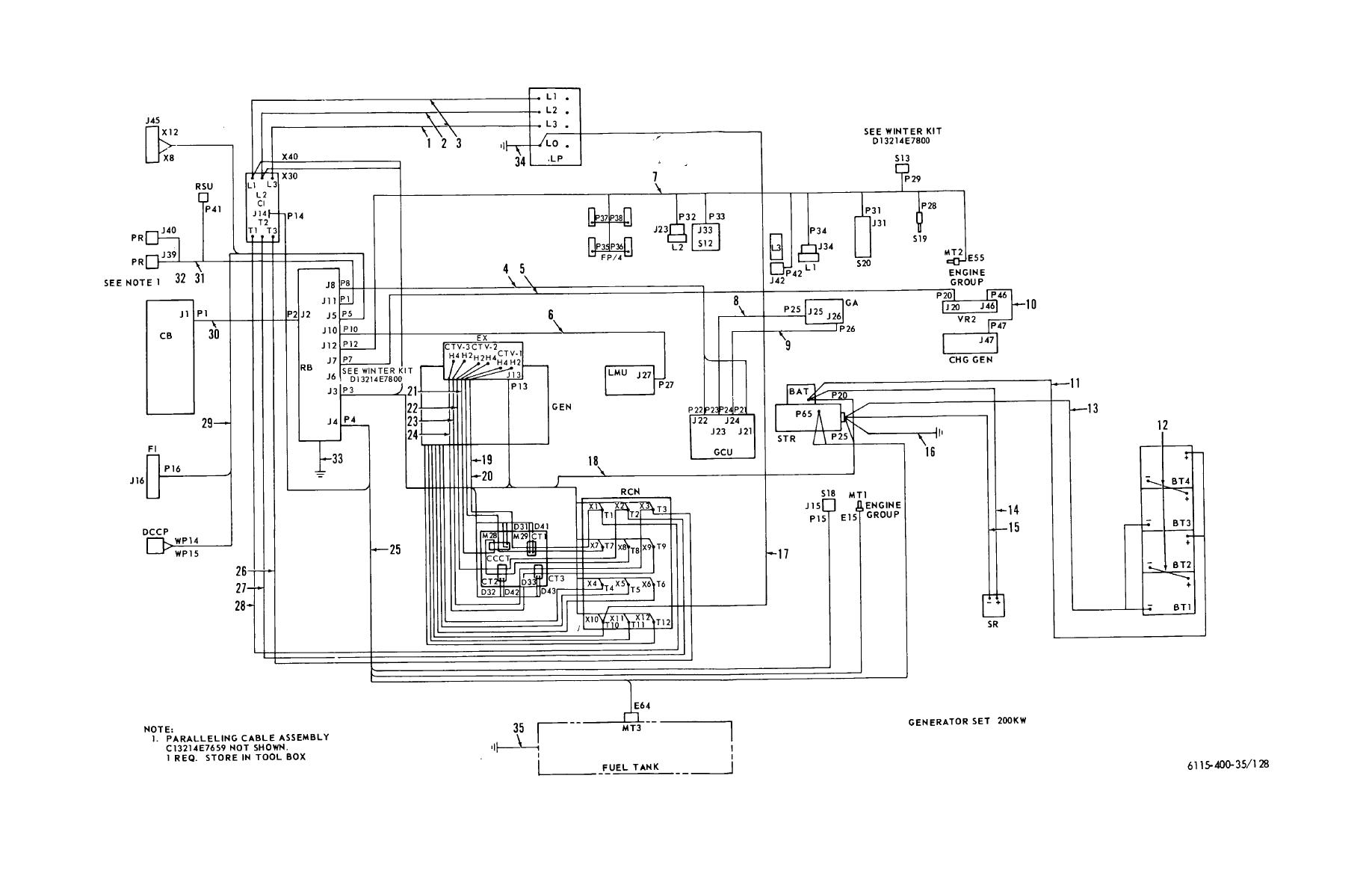 Figure 128. Wiring diagram-interconnecting wiring harness