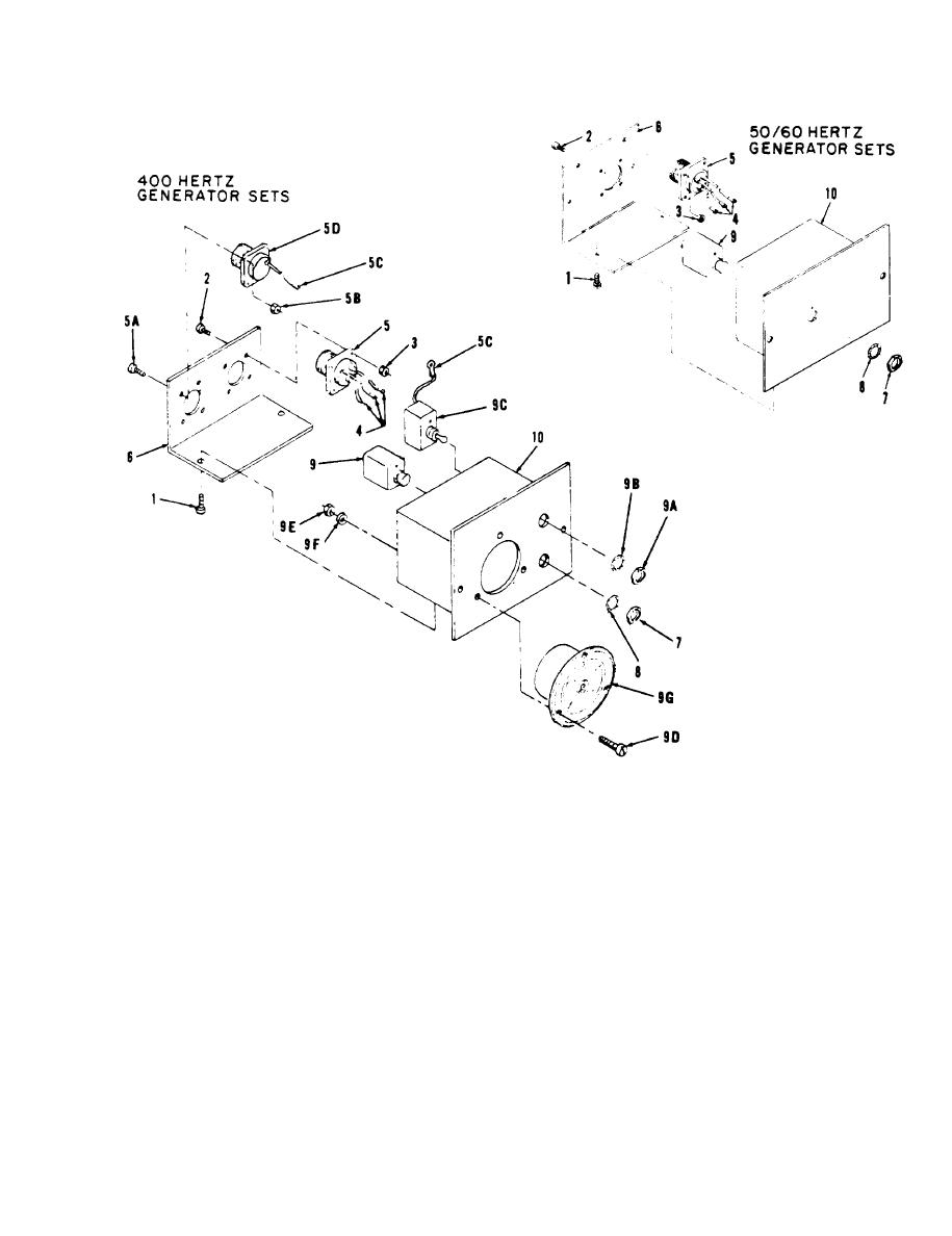 Figure 6-9. DC circuit breaker box, exploded view