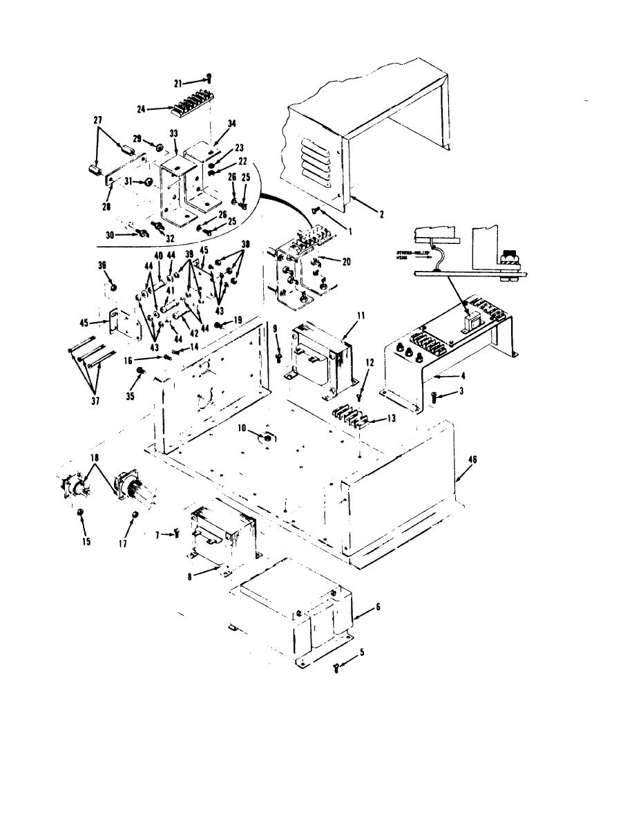 Figure 6-17. Exciter regulator, exploded view