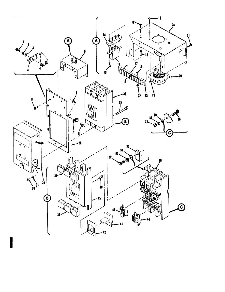 Figure 6-37C. Motor operated circuit breaker assembly (CB2