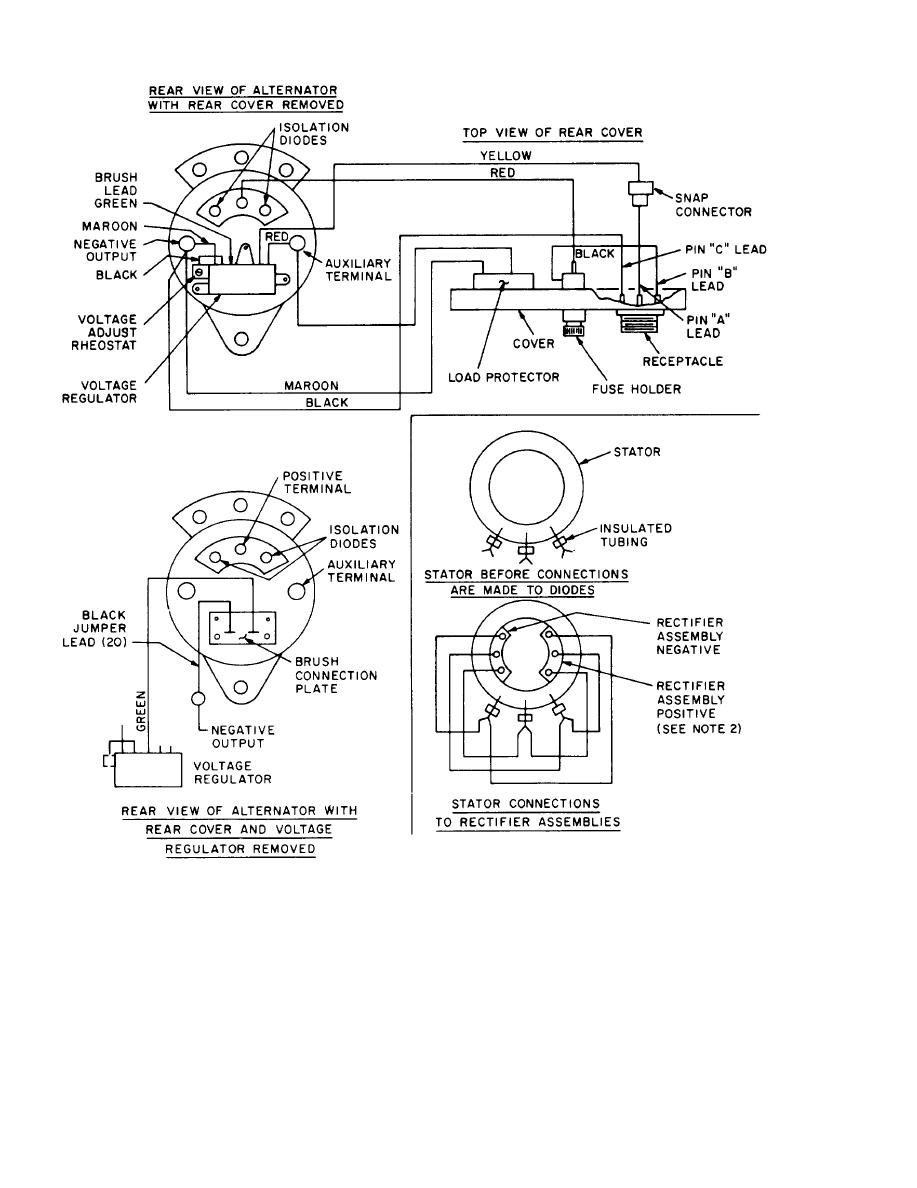 Figure 8-4. Alternator schematic and wiring diagram (sheet