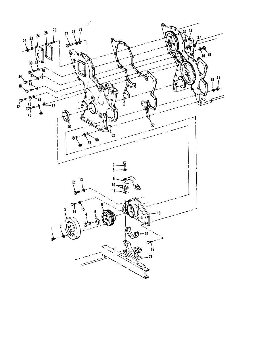 Figure 8-29. Crankshaft pulley, damper, and timing gear
