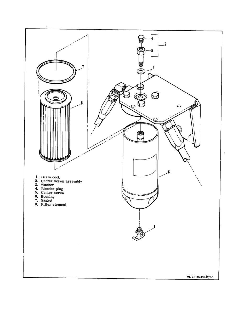 Figure 3-6. Servicing Secondary Fuel Filter
