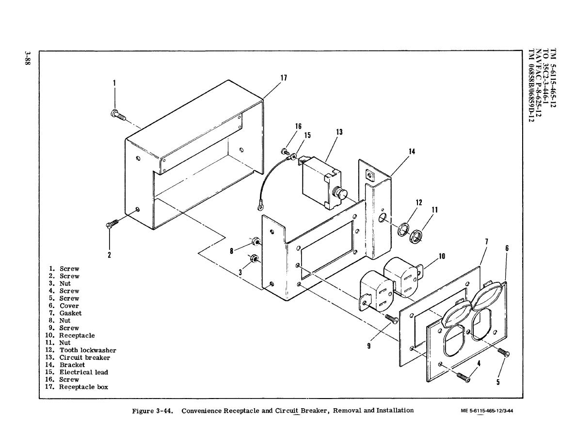 Figure 3-44. Convenience Receptacle and Circuit Breaker