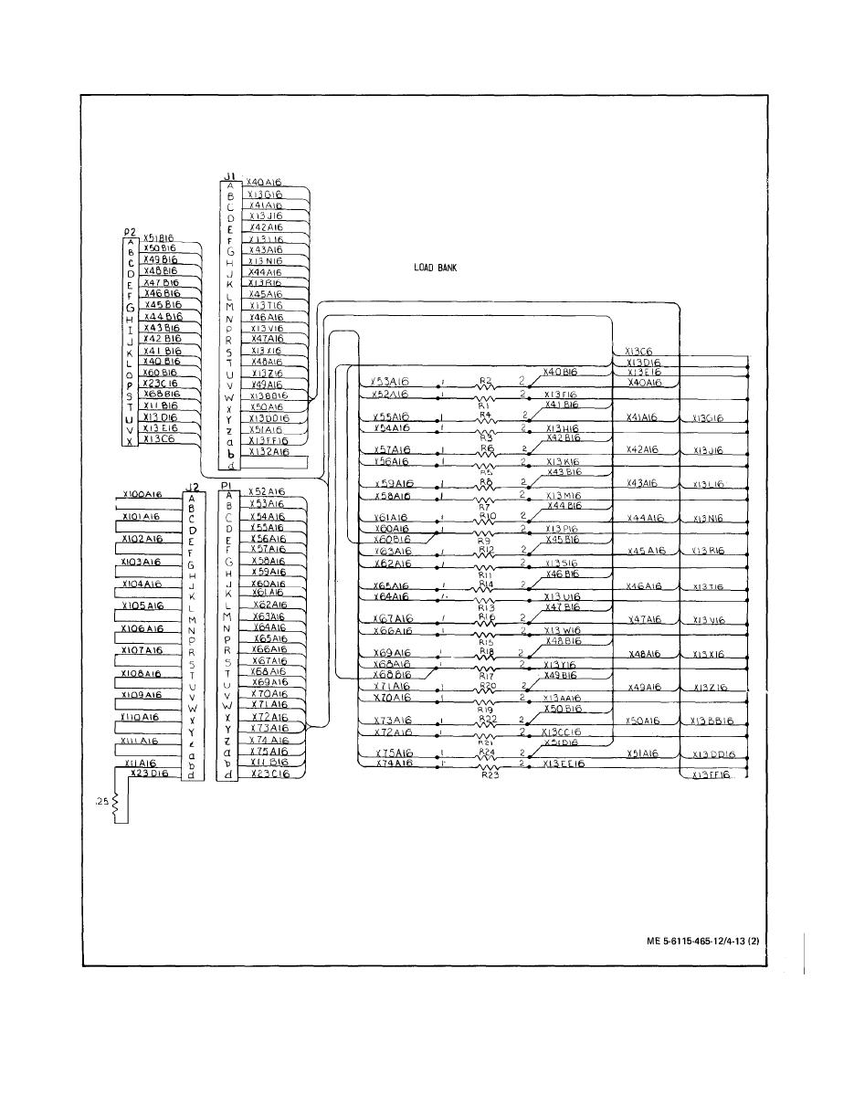 Figure 4-13. Load Bank Wiring Diagram, Dwg. No. 72-2826