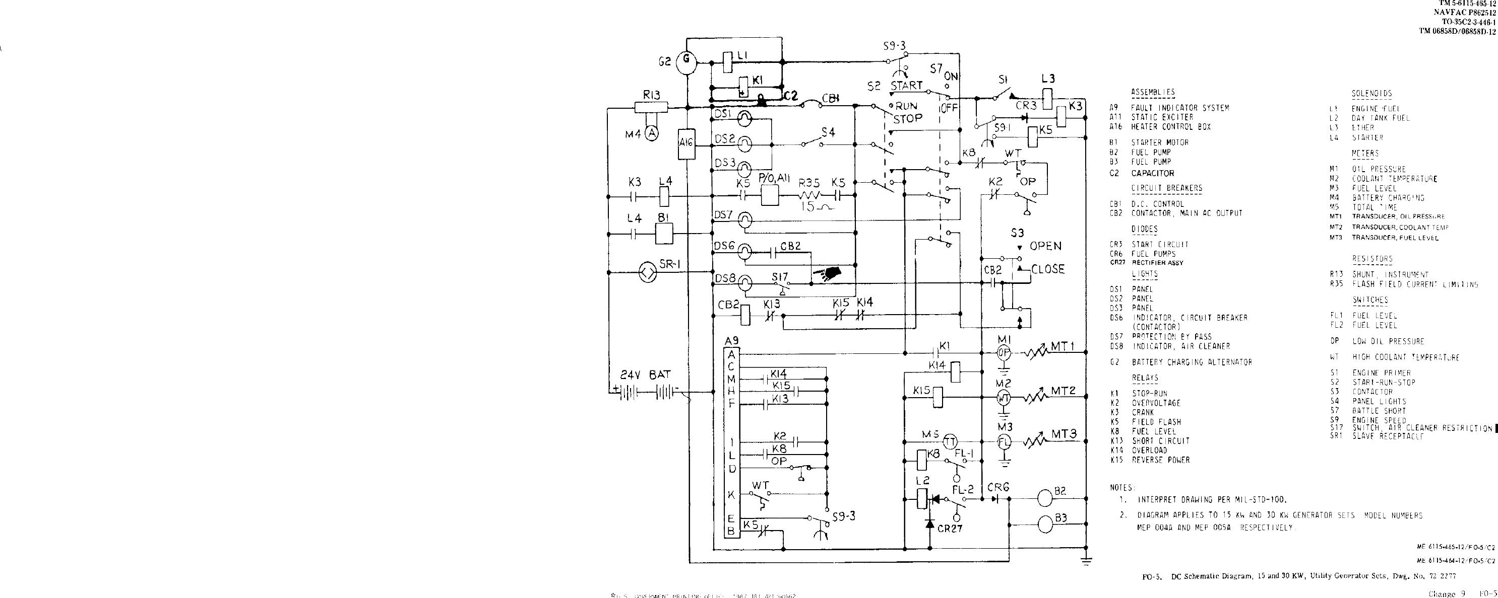 Fo 5 Dc Schematic Diagram 15 And 30 Kw Utility