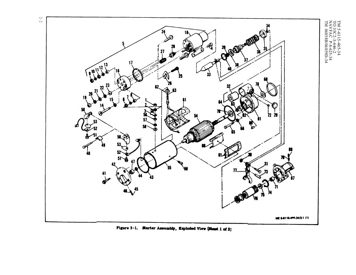 Figure 3-1. Starter Assembly, Exploded view