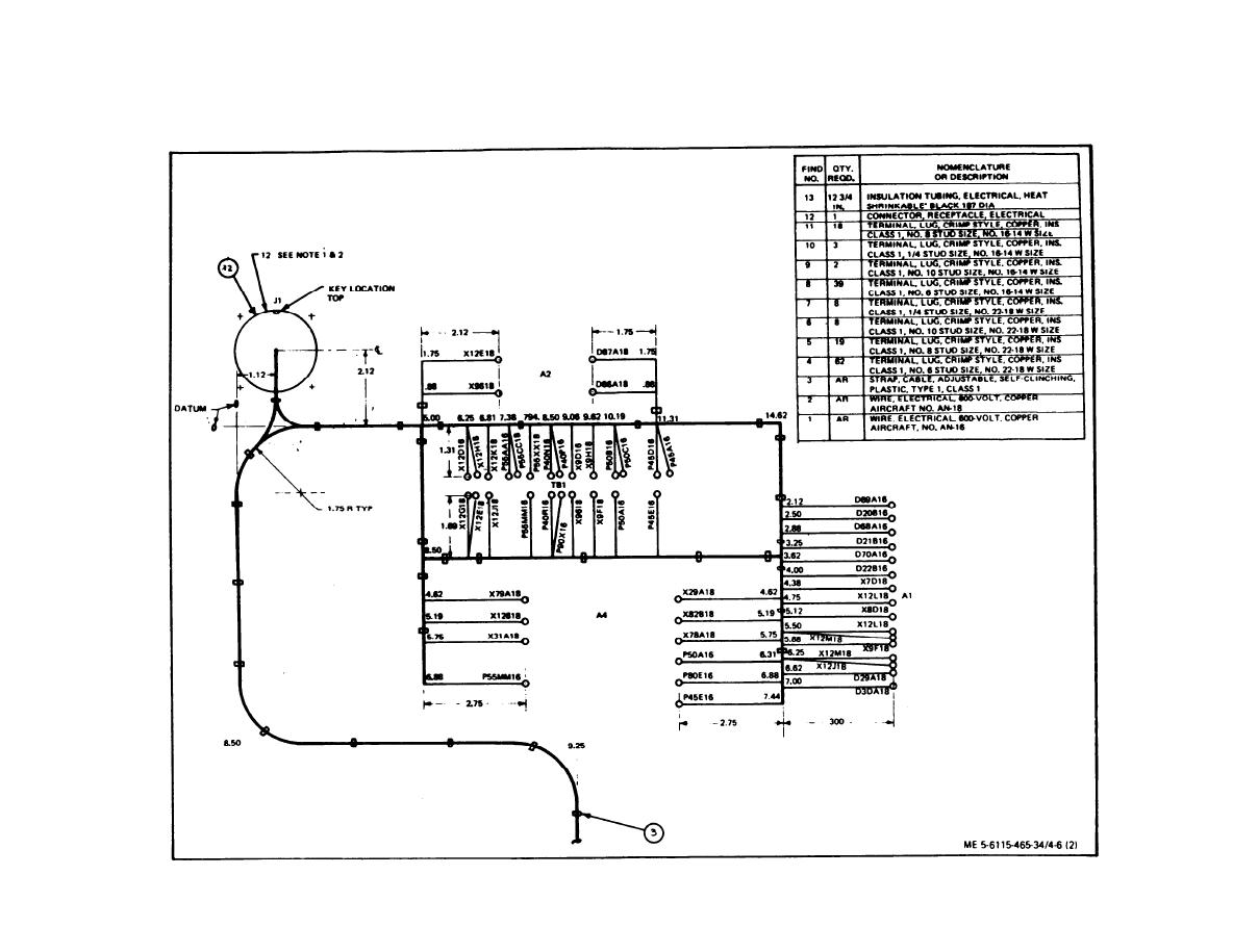 Figure 4-6. Control Cubicle Wiring Harness (sheet 2 of 3