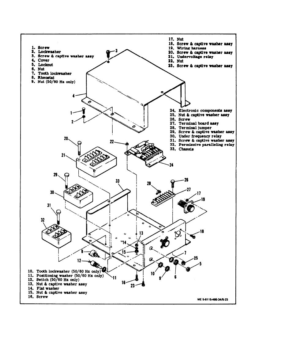 Figure 5-23. Precise Relay Assembly, Exploded View